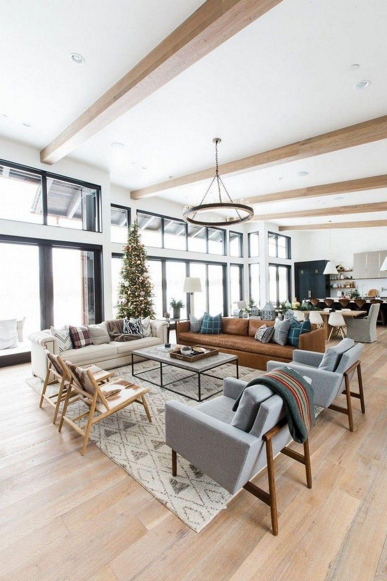 💘 42 Contemporary And Comfortable Living Room Design Inspiration Ideas 9