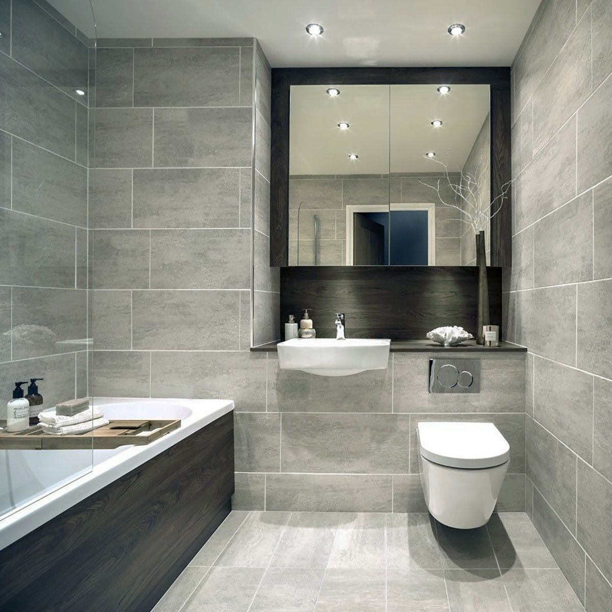 10-30sqm 61.3×30.3cm Indiana Grey Matt Porcelain Wall Tile Room Deal