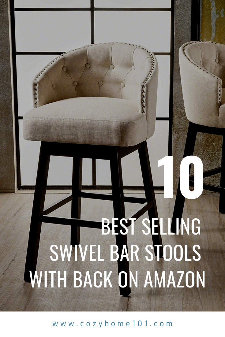 10 Best Selling Modern Swivel Bar Stools with Back on Amazon