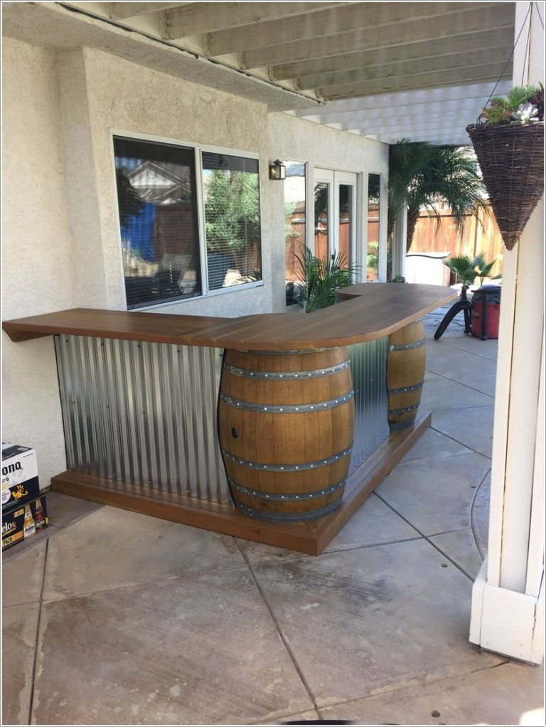 10 DIY Outdoor Drink Bar Ideas