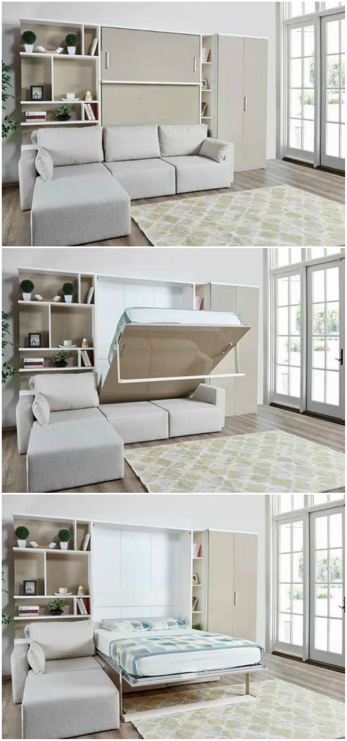 10 Murphy beds that convert any room to a bedroom in seconds.
