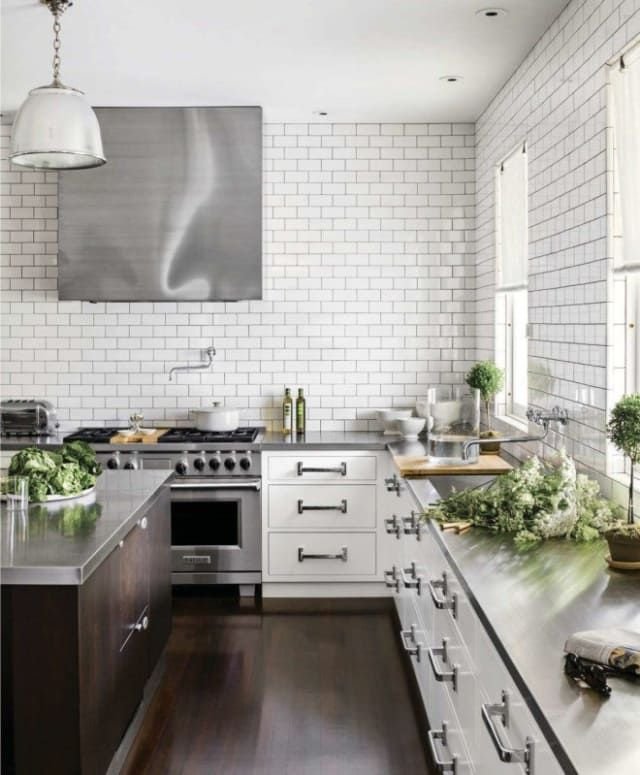 10 Stylish Kitchens with Stainless Steel Countertops