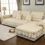 100% Polyester Fabric Sofa Cover European Lace Design Slip-Resistant Sofa Armres...