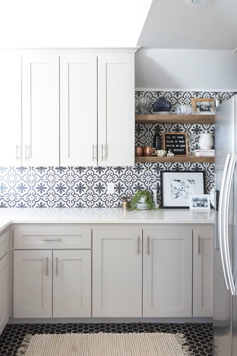 11 Kitchen Tile Backsplash Ideas for White Cabinets – That Aren't White