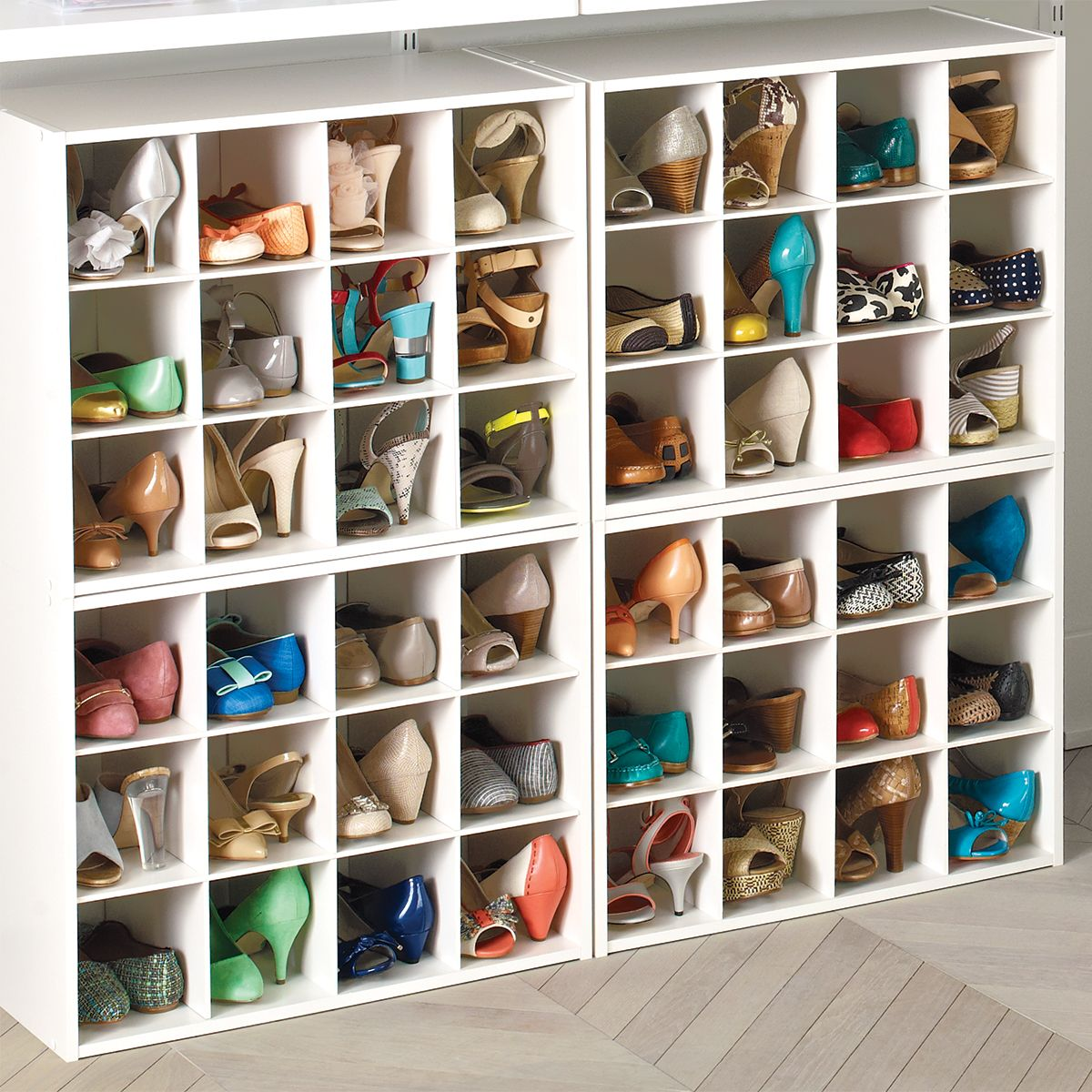 12-Pair Shoe Organiser from the Container Store – at least you won't knock over …