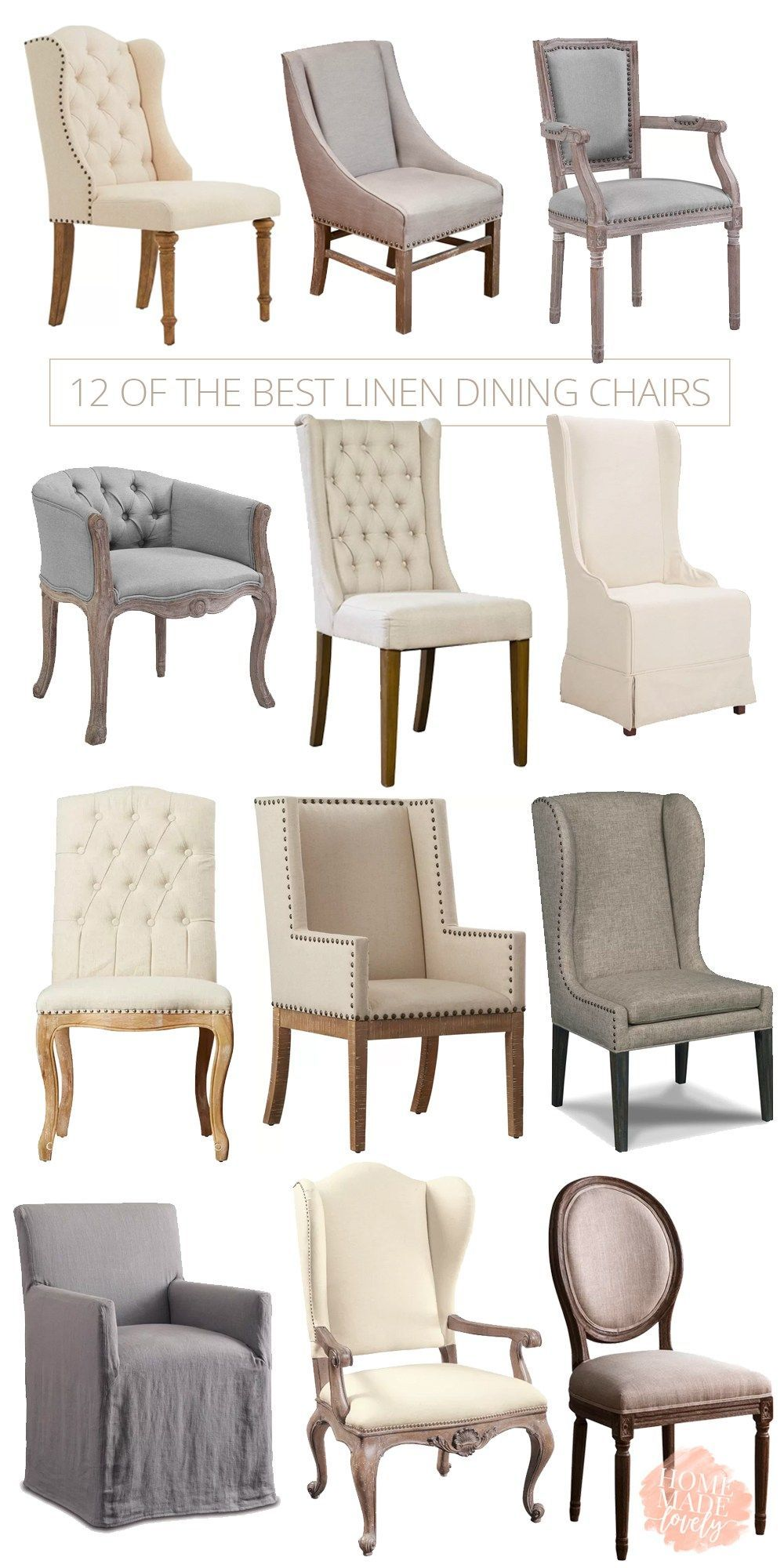 12 of The Best Linen Dining Chairs for Your Dining Room – pickndecor.com/furniture