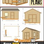 12x16 Shed Plans - Gable Design - PDF Download - Construct101