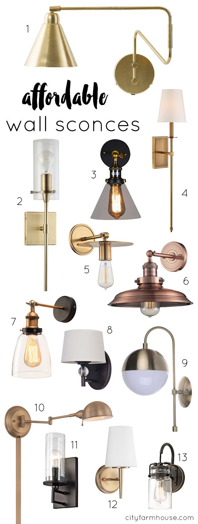 13 Affordable Wall Sconces