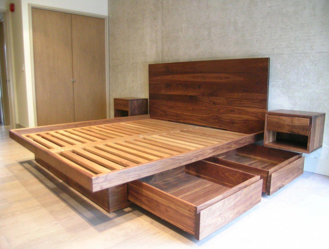 13 Outstanding Bed Frame And Headboard Full Bed Frames King Size Platform #furni…