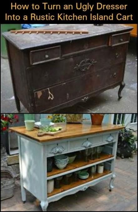 15+ Trendy kitchen island cart diy cabinets
