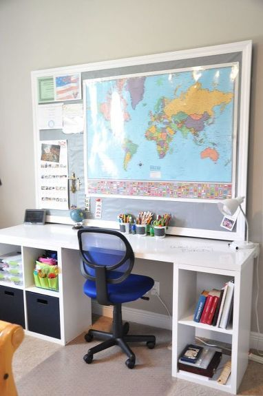 DIY Desk Using a Hollow Core Door and Some Cube Storage