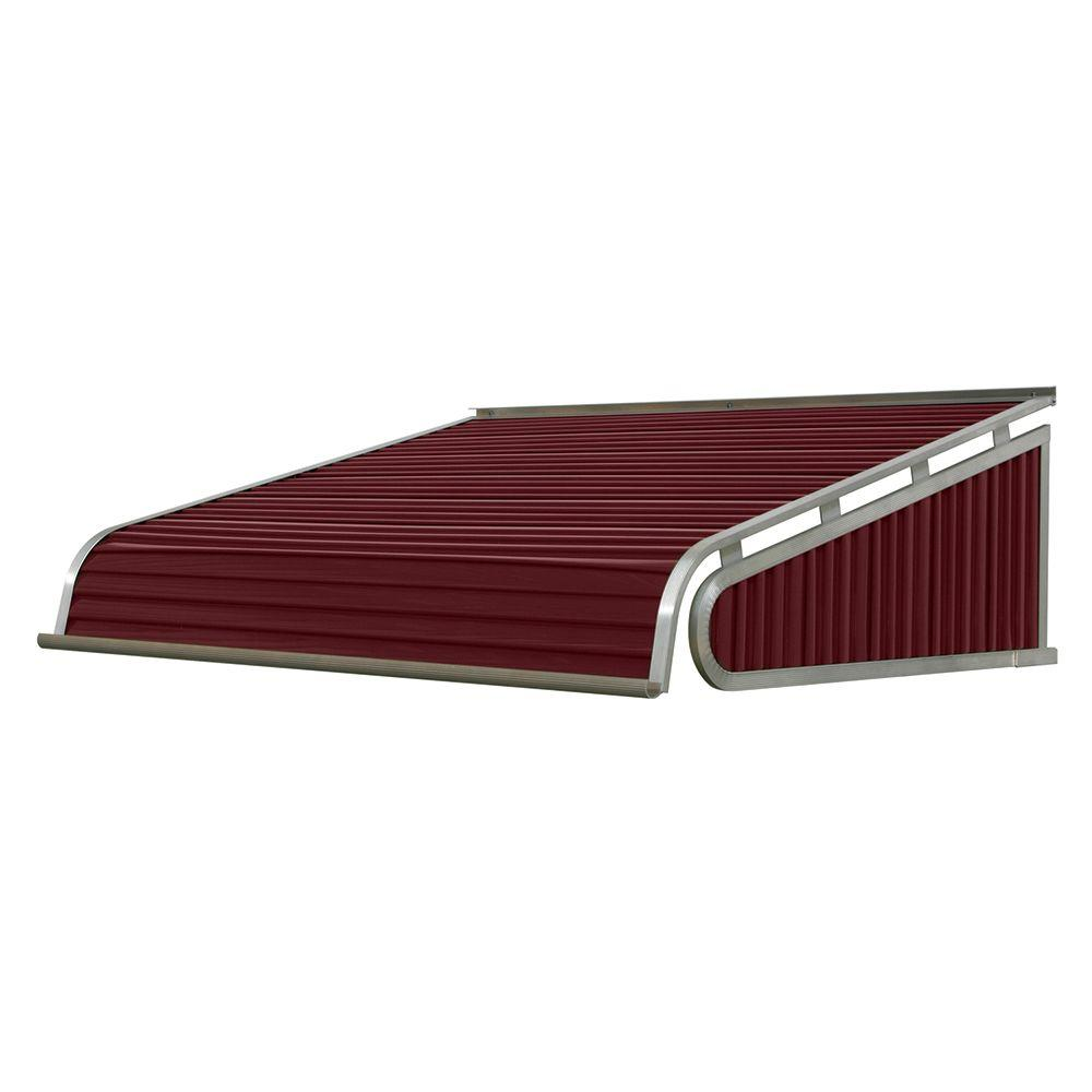 NuImage Awnings 6 ft. 1500 Series Door Canopy Aluminum Awning (12 in. H x 42 in. D) in Burgundy-K150707216 – The Home Depot