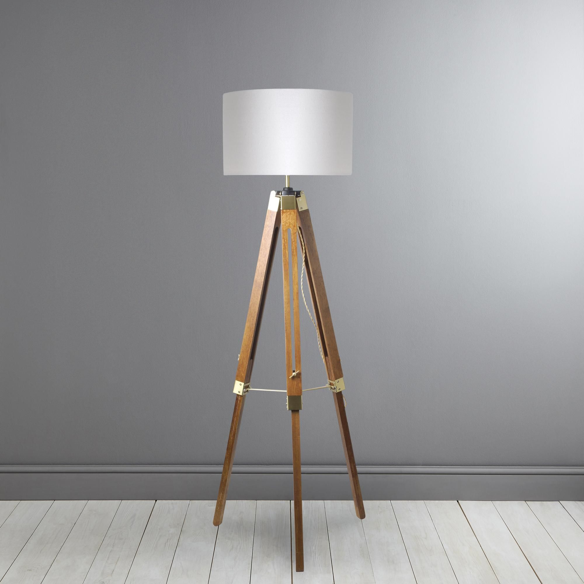 Trio Natural Tripod Floor Lamp