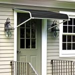 NuImage Awnings 4 ft. 1100 Series Door Canopy Aluminum Awning (12 in. H x 42 in. D) in Black-K110704890 - The Home Depot