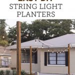 DIY String Light Planters