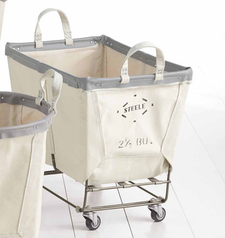 2-1/2 Bushel Steele Canvas Laundry Bin