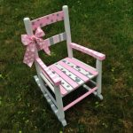 Hand-painted and Personalized Kid's Rocking Chair, Child's Little Rocker, Baby Shower Gift, Baby Boy Gift, Baby Girl Gift, Kid's Room Decor