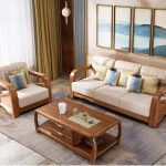 Latest Fabric Sofa Set Living Room Furniture Pictures of Wooden Sofa Designs - C...