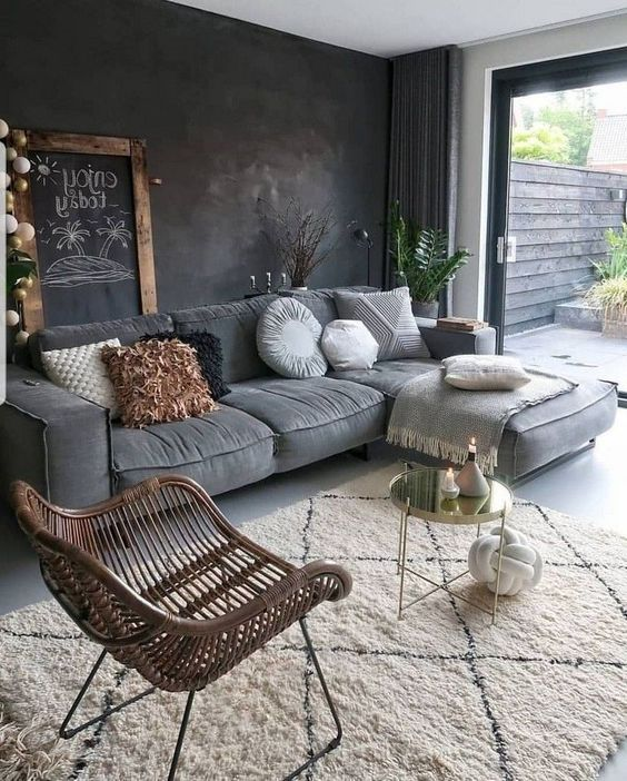 30 Awesome Ways to Style Your Grey Sofa in Living Room – Page 24 of 30 – VimDecor