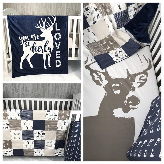 Baby  Nursery Bedding Set , Baby , Woodland , Dear, Moose , Hunting  , Buck  ,  Bear ,  Arrow  , Baby Bedding , Babylooms Crib Bedding