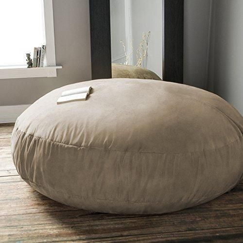 Jaxx 6 Foot Cocoon – Large Bean Bag Chair for Adults, Camel
