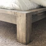 DIY $100 Rustic Modern Queen Bed Free Plans & Tutorial!