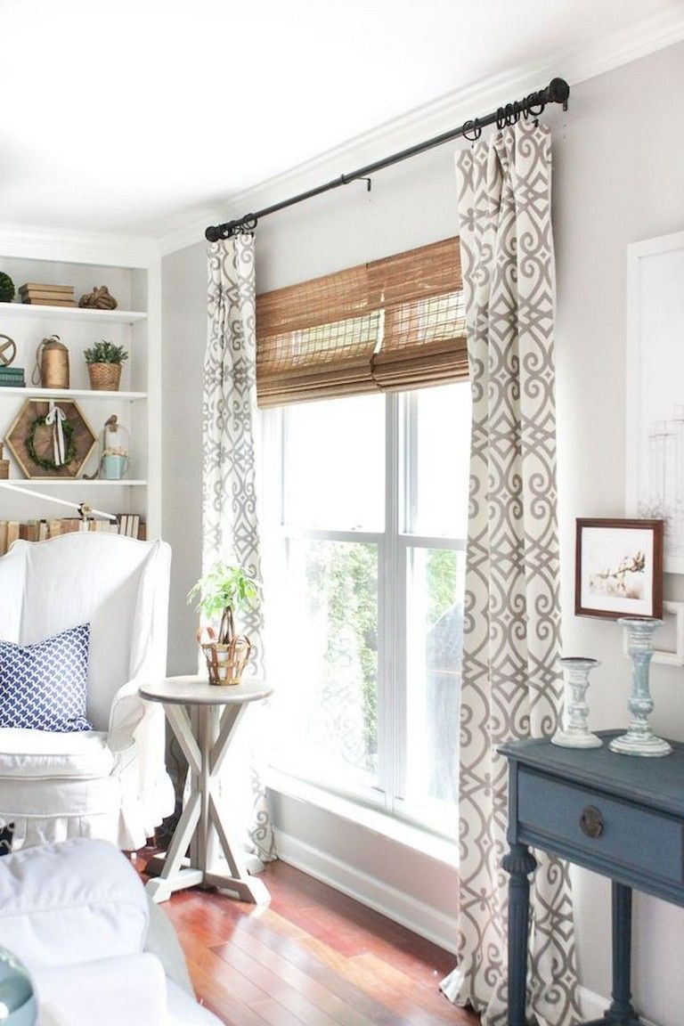 91 Awesome Modern Farmhouse Curtains for Living Room Decorating Ideas – pickndecor.com/design