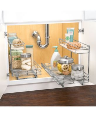 Lynk Professional Sink Cabinet Organizer with Pull Out 2 Tier Sliding Shelf & Reviews – Cleaning & Organization – Home – Macy's