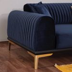 Nirvana 3 Seater Sofa-Bed  NIRV003-BLUE