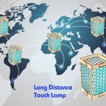 Personalized Long distance relationship gift Love distance long distance love gift for boyfriend Personalized sign wooden touch lamp