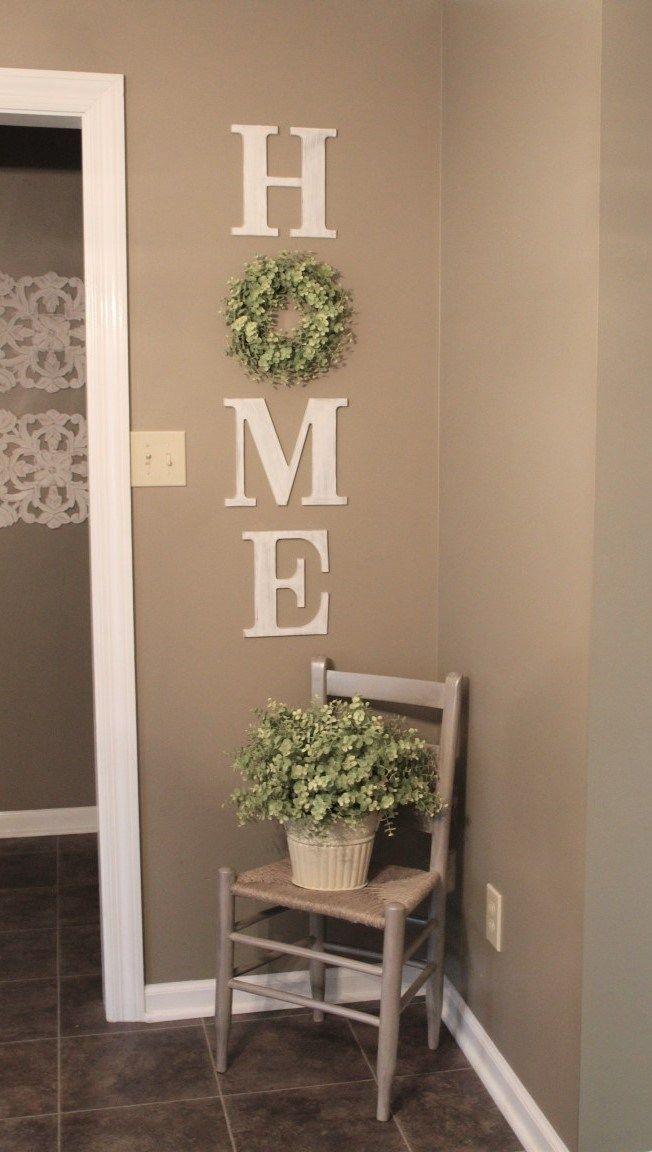 DIY HOME WREATH WALL DECOR