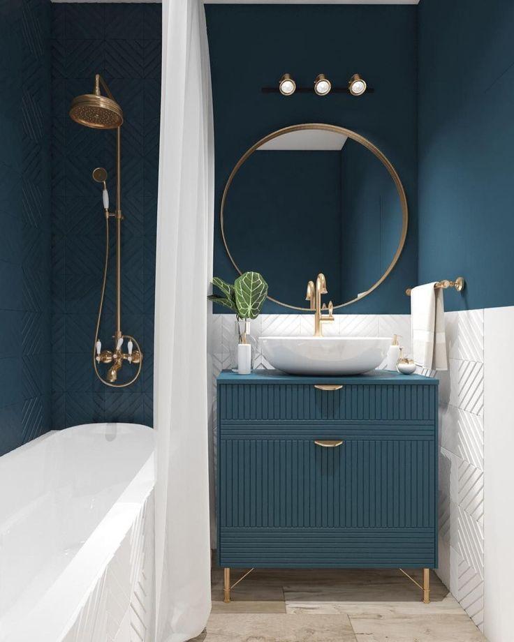 25 Beautiful Bathroom Color Scheme Ideas for Small & Master Bathroom