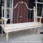 DIY Repurposed Metal Headboard Bench - Southern Revivals