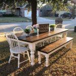 44 Beautiful Farmhouse Kitchen Table Design Ideas - ZYHOMY