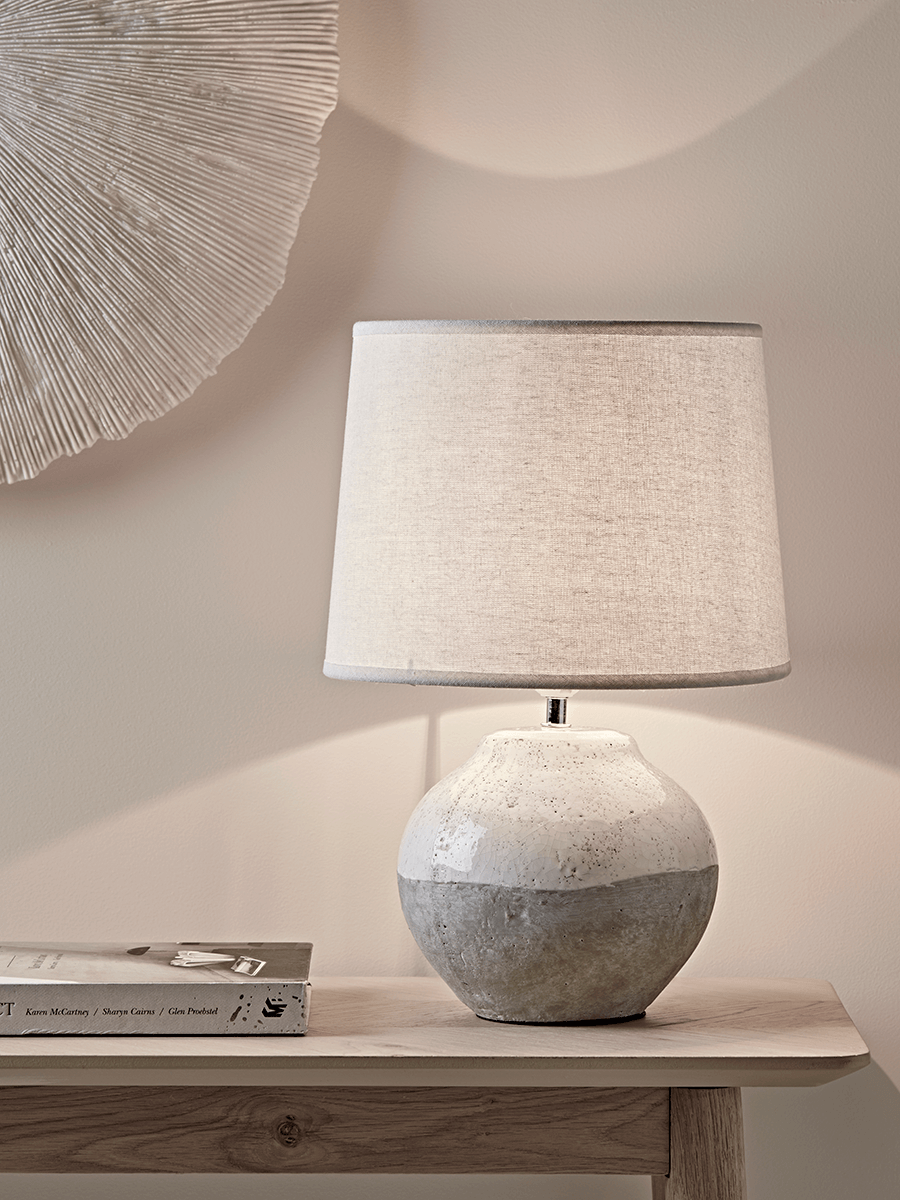 Dip Glaze Table Lamp – Small