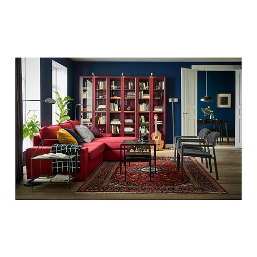 BILLY Bookcase with glass doors – beige – IKEA
