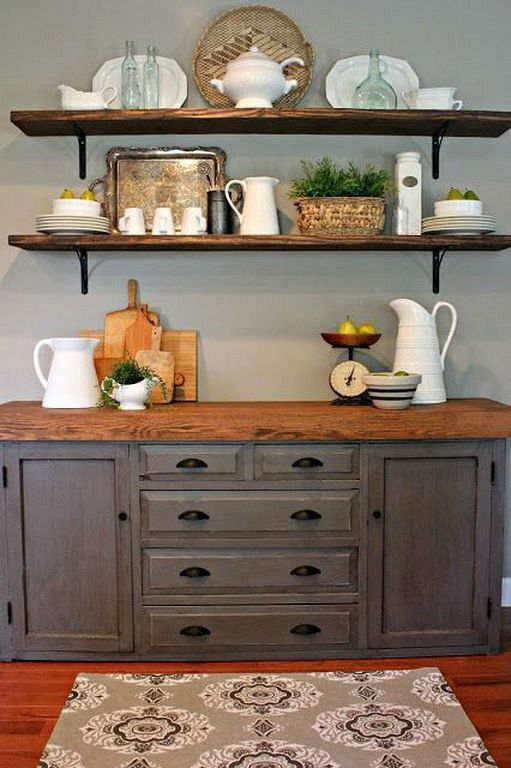 20+ Buffet Table Ideas Many Function Suppose to Store Goods