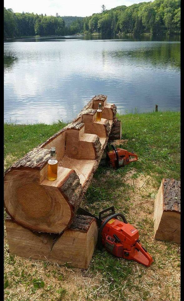 21 Creative Ways of Turning Logs And Stumps Into Garden Furniture · | Woodworke…