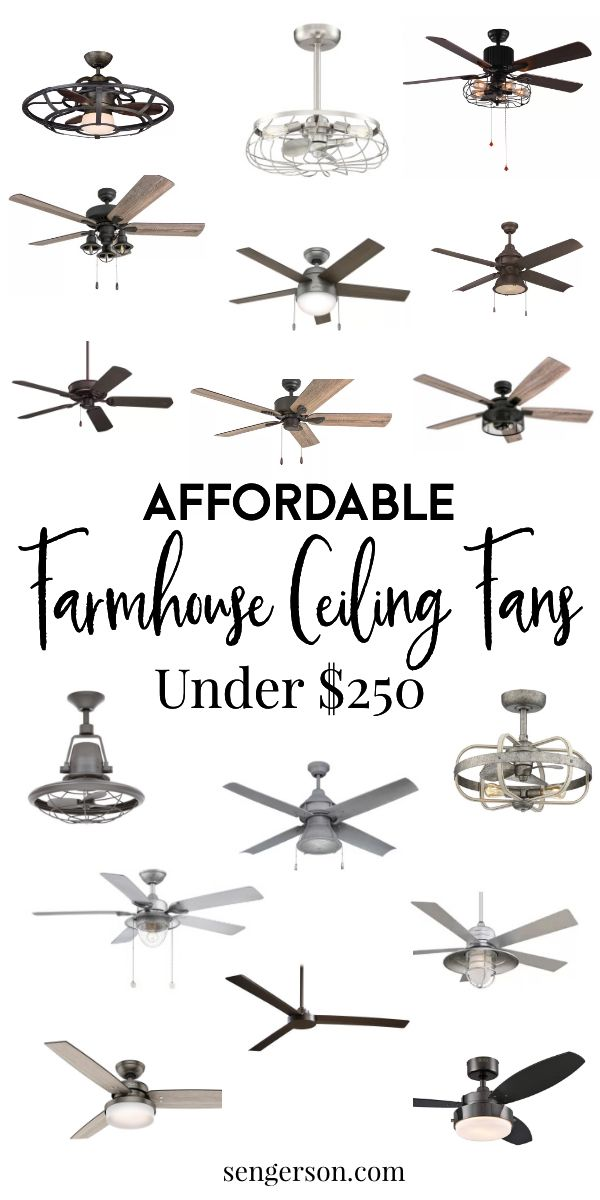 21+ Gorgeous Modern Farmhouse Ceiling Fans (and best places to shop)