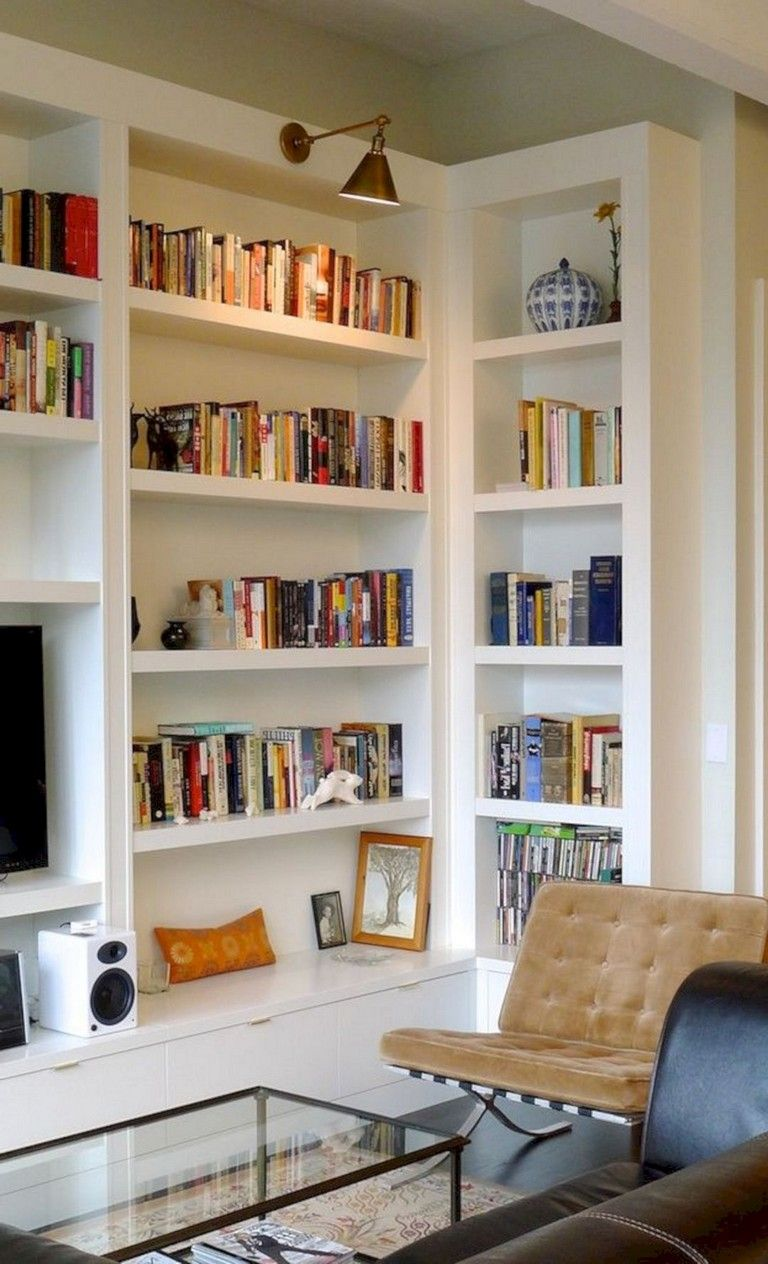22+ Awesome Extraordinary Bookshelves Ideas That Your Make Amaze Family Room