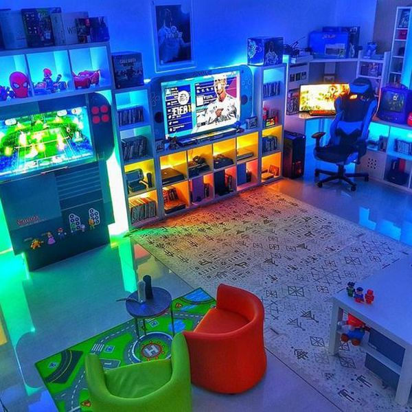 25 Coolest Gaming Rooms That Will Make Your Dreamy | Home Design And Interior