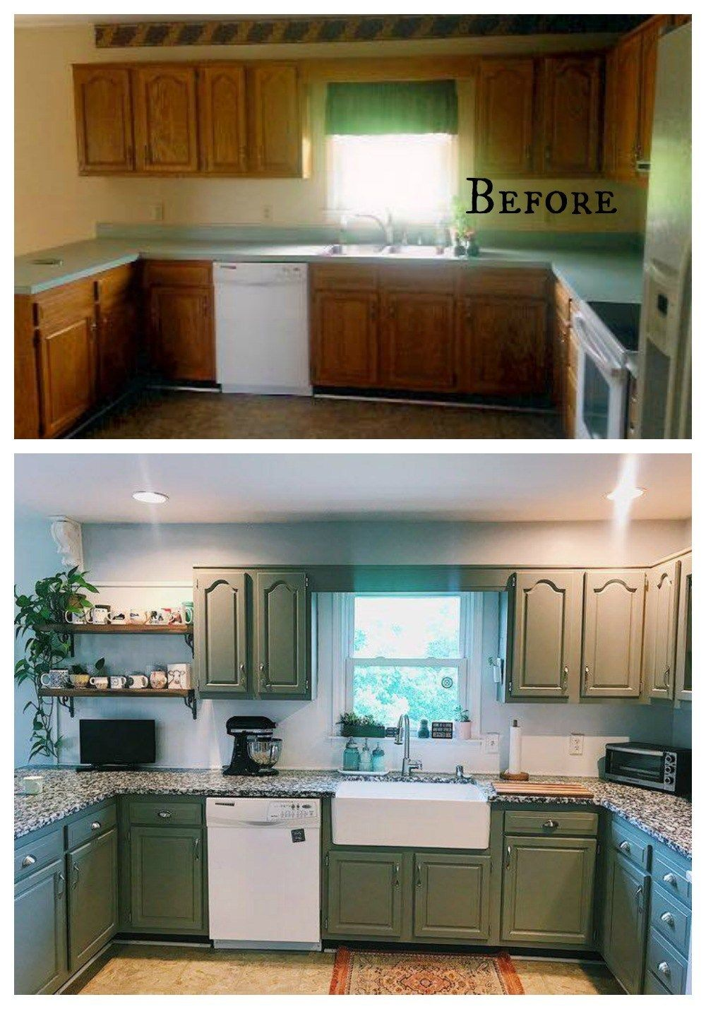 27 Inspiring Kitchen Makeovers- Before and After – Nesting With Grace