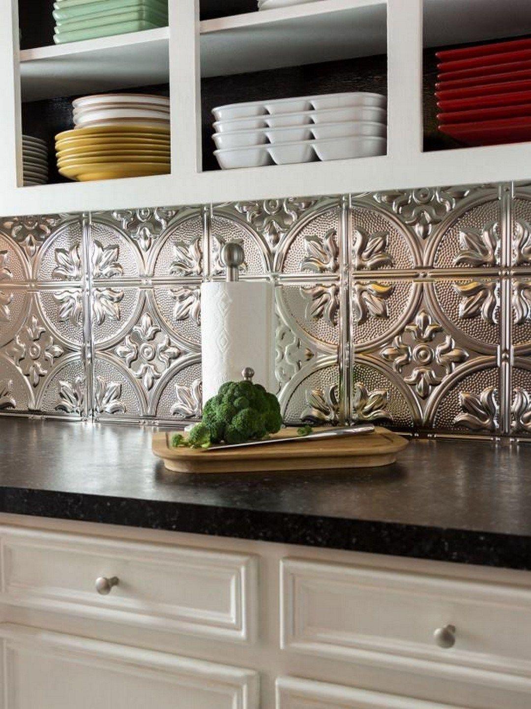 29 Cool & Cheap DIY Kitchen Backsplash Ideas (8)