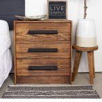 "3-drawer chest, pine, 24 3/8x27 1/2 """