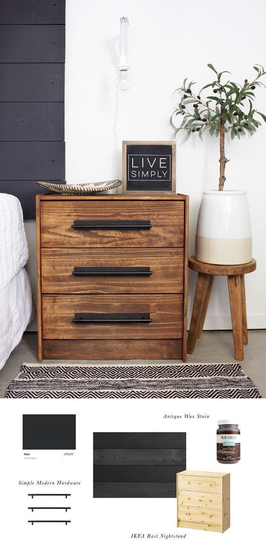 "3-drawer chest, pine, 24 3/8×27 1/2 """