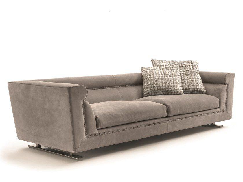 3 seater leather sofa ANSEL | 3 seater sofa Loveluxe – Essence Collection By Longhi design Giuseppe Viganò