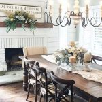 30 Best Farmhouse Table Dining Room Decor Ideas (1) - Googodecor