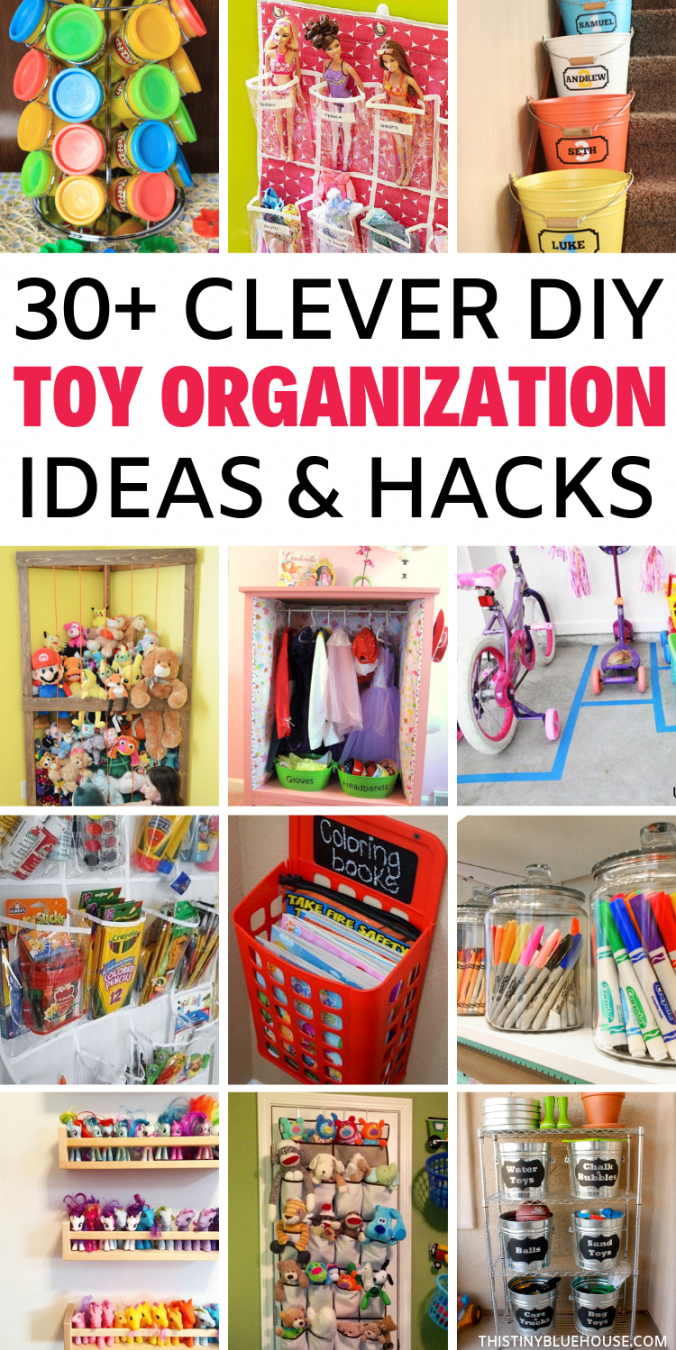 30+ Easy Clever Toy Organization Ideas – This Tiny Blue House