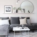 31 Ideas Living Room Grey Sofa Picture Ledge For 2019