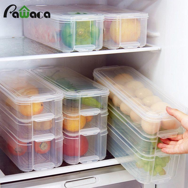 #32897649711 Aliexpress  Plastic Storage Bins Refrigerator Storage Box Food Stor…